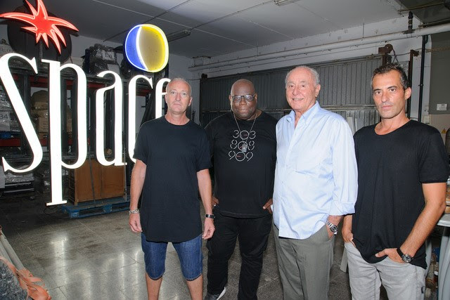 Pictured left to right: Dave Browning, Carl Cox. Pepe Rosello and Juan Arenas