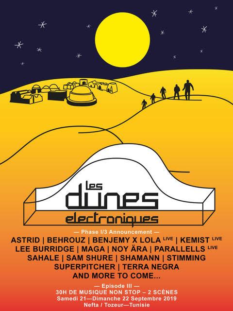 lineup les dunes electroniques