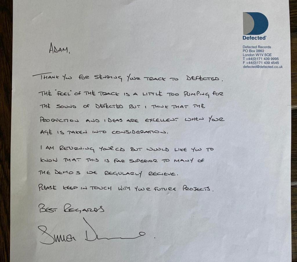 Calvin Harris mails Simon Dunmore