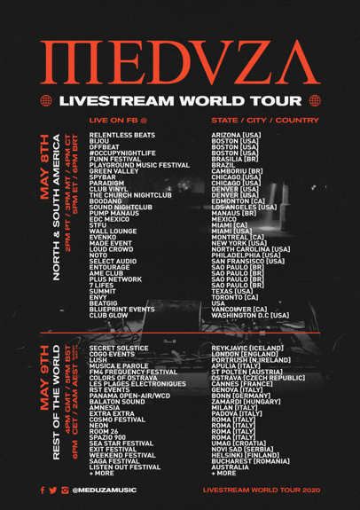 Meduza Live Stream Dates